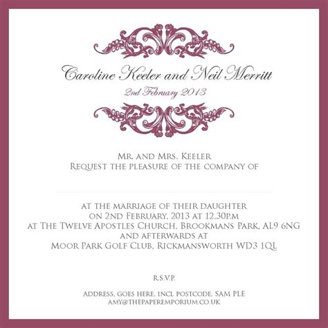 Wedding Lovely by Wedding Invitation Wording And Templates Lovely Sle