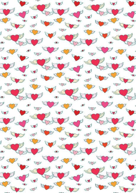 valentines paper valentines day scrapbook paper flying hearts white