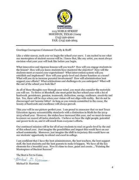 Parent Welcome Letter Middle School Parent Information Welcome