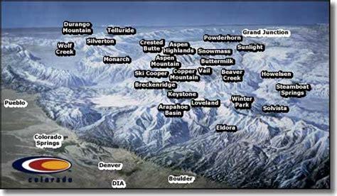 colorado ski areas map colorado ski and snowboard areas