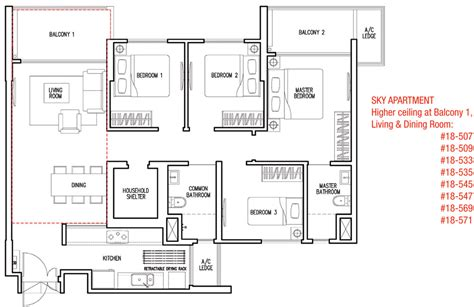 Parkland Residences Floor Plan by Lake Vista Yuan Ching Dbss Singapore Singapore Dbss