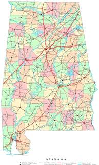 alabama map alabama printable map