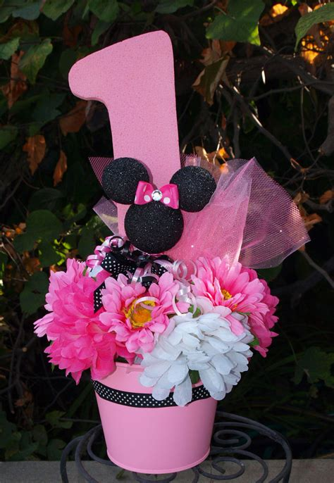 minnie mouse centerpieces minnie mouse birthday center by cadizboutique on etsy
