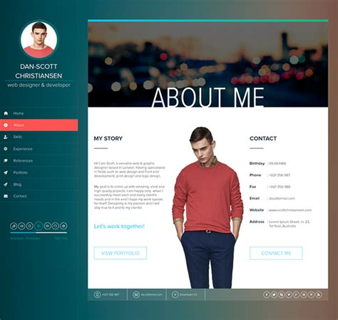 Resume Using Html Ispy Cv Resume Html Template On Behance