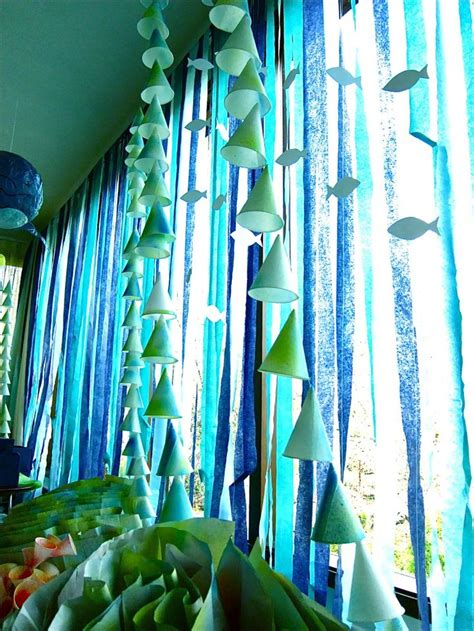 underwater themed decorations 19 best images about crepe paper streamers on