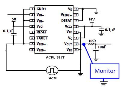coupling capacitor voltage transformer failure isolated gate driver rejects hybrid powertrain drive common mode noise