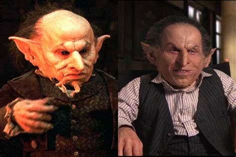 actor who plays goblin in harry potter movie which characters have been recast in the harry