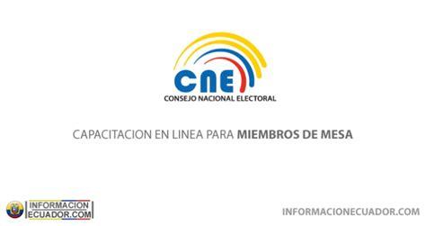 libro miembros mesa elecciones generales 2016 junta electoral capacitaci 243 n electoral en l 237 nea del cne para miembros de
