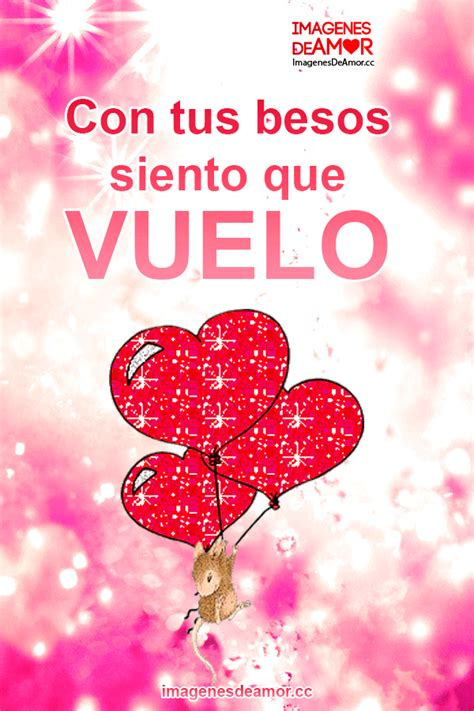 imagenes de corazones con frases de amor rat 243 n agarrando globos de coraz 243 n y frase con tus besos