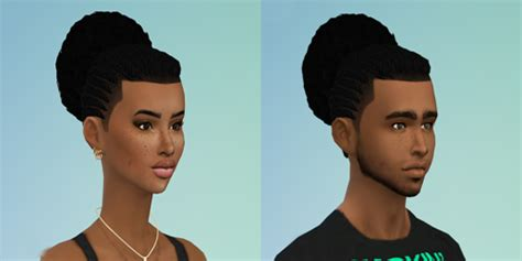 african american sims 4 blvcklifesims 3 male and female hairs sims 4 updates