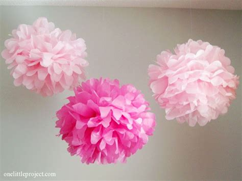 How To Make Large Paper Pom Poms - how to make tissue paper pom poms an easy step by step