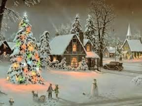 christmas scene christmas wallpaper 9272952 fanpop