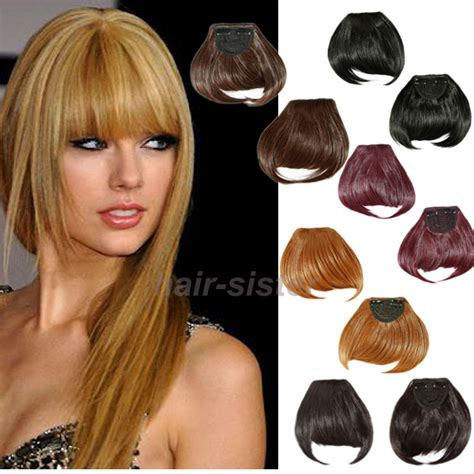 hair piecis and bangs straight front bangs fringe piece clip in hair extensions