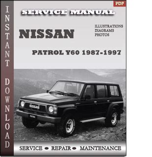 free auto repair manuals 1995 nissan pathfinder security system 1987 1997 nissan patrol y60 service repair manual