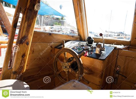 parts of a boat cockpit cockpit of fishing boat stock photo image 47424773