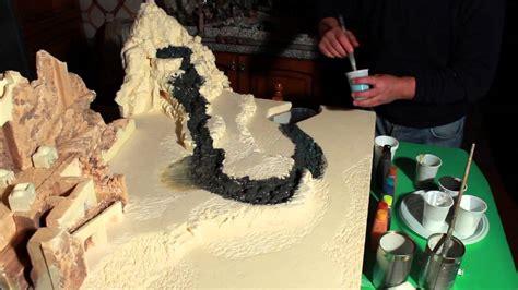 letto fiume presepe dipingere cascata e terreno presepe parte10