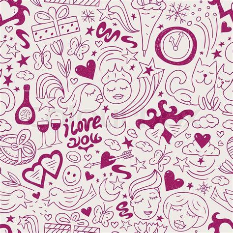love shape pattern vector love seamless pattern stock vector colourbox