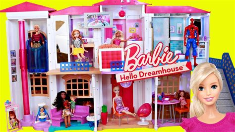 barbie doll house videos new barbie dollhouse hello dreamhouse is a smart home voice activated youtube