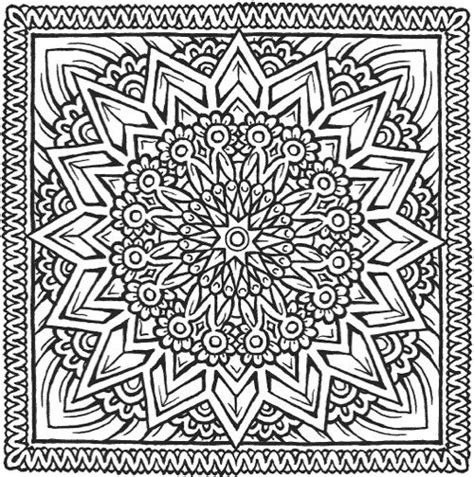 square mandala coloring pages square mandala coloring pages difficult printable square
