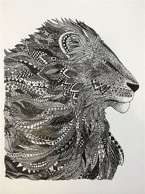 zentangle lion pattern zentangle lion www pixshark com images galleries with