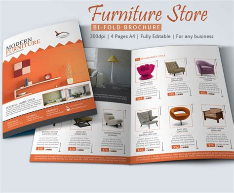 Furniture Store Brochure Design On Behance Sales Catalog Template