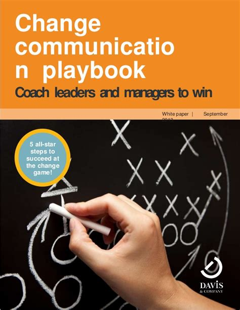 changer a playbook for winning at books change communication playbook for leaders managers