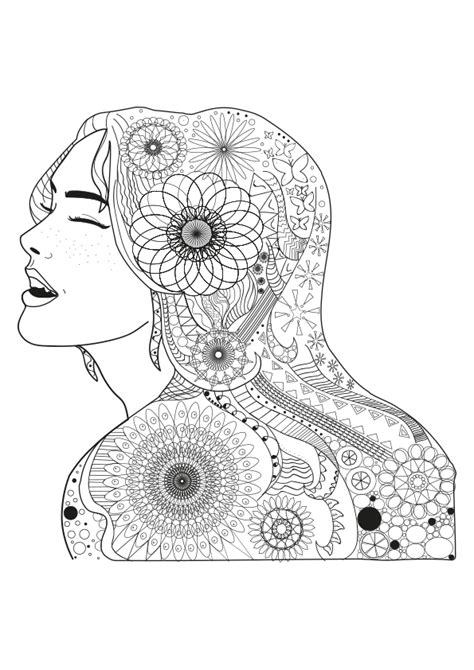 imagenes para colorear de mandalas dibujo para colorear mandala ilustraci 243 n silueta chica