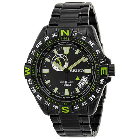Seiko Automatic Snh029 Black Stainless Steel Original seiko ssa097 automatic black pvd stainless steel