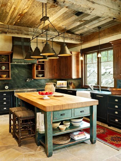 rustic kitchen islands 1000 ideas about rustic kitchen island on