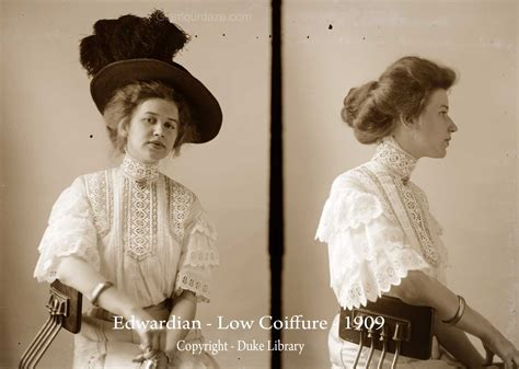 womens edwardian hairstyles an overview hair and downton abbey fashion era 1909 edwardian low coiffure