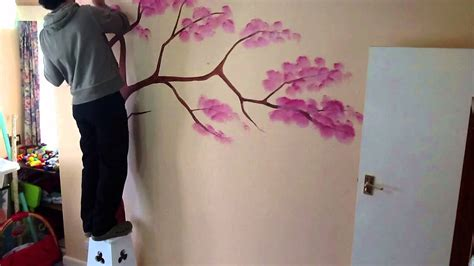 Baum Malen Wand by Wall Tree Painting Time Lapse