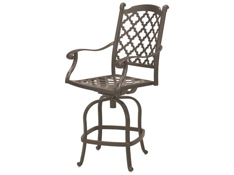 cast aluminum bar stools darlee outdoor living quick ship madison cast aluminum counter height swivel bar stool in
