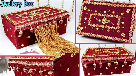 materials to make jewelry how to make jewelry box at home with waste material diy