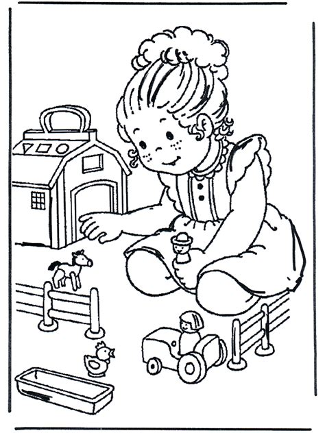 imagenes para pintar muñecas colorea tus dibujos ni 241 a jugando con casa de mu 241 ecas para