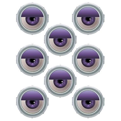 printable purple minion eyes instant download evil minion eyes 3 inch for by