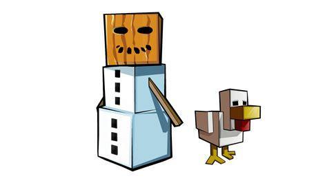 Minecraft Papercraft Snow Golem - image gallery snow golem