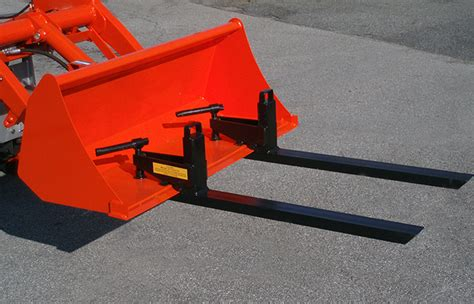 kubota bx forks compact tractor forks cl on attach