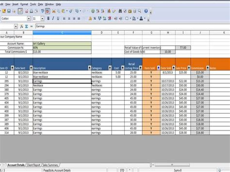 Consignment Inventory And Sales Tracking By Timesavingtemplates Consignment Spreadsheet Template
