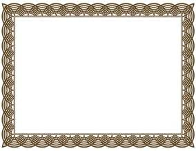 Borders Template by Free Certificate Borders Clipart