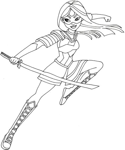 free printable super hero high coloring pages batgirl free printable super hero high coloring page for katana