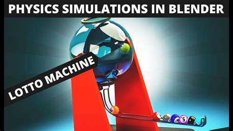 tutorial blender physics blender tutorial lotto machine physics youtube