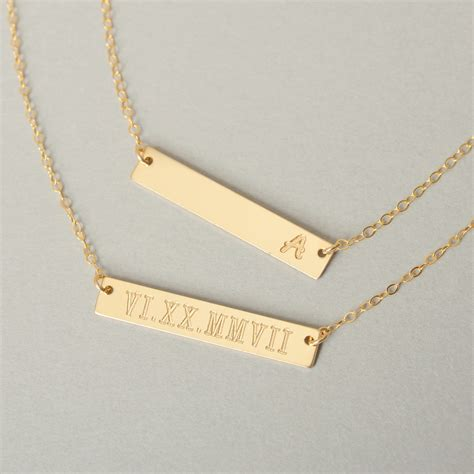 how to make custom gold jewelry personalized gold bar necklace bar necklace engraved