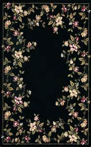 pink and black area rugs black floral area rug with pink and green floral border