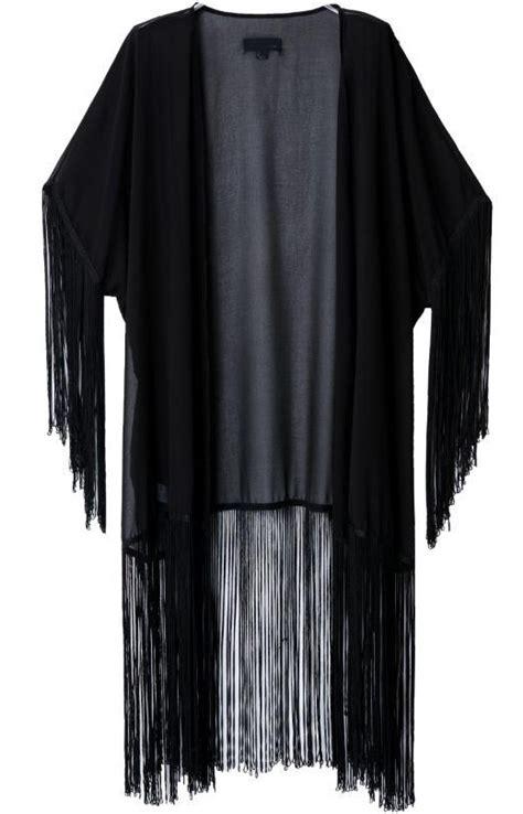 Siera Kimono tassel black kimono