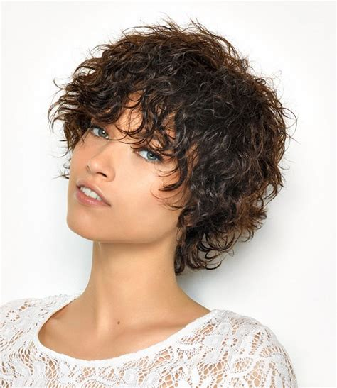 Short Shaggy Hairstyles For Wavy Hair | a short brown hairstyle from the summer 2014 collection by