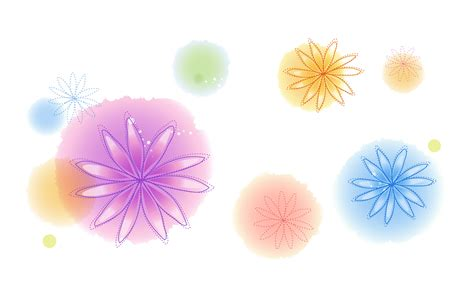 flower wallpaper effect colorful cartoon flowers surrounded by colorful circles