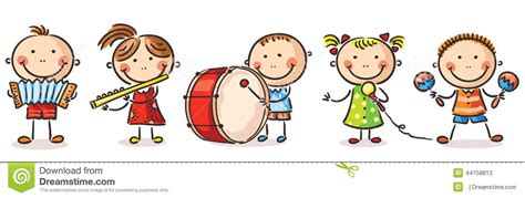 clipart musicali children instruments clipart black and white