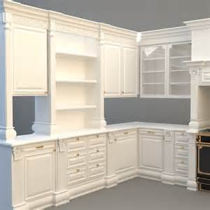 kitchen cabinets appliances 3d model max 3ds cgtrader