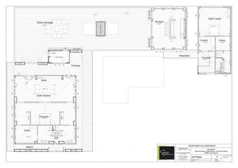 plans de notre villa de luxe domaine des fonds blancs