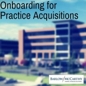Merger And Acquisition Book For Mba by Onboarding For Practice Acquisitions Barlow Mccarthy